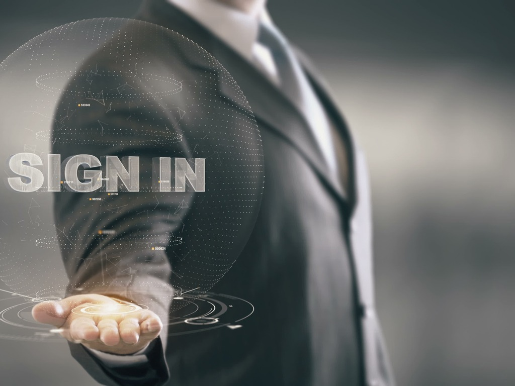 Sign In Businessman